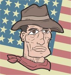 American western flag vector