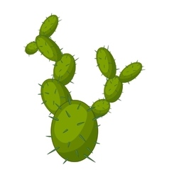 Beautiful cactus icon cartoon style vector