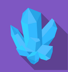 blue mineralcrystal which is a towns produced in vector image vector image