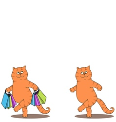 Cats and bags vector