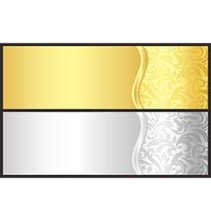 Classical gold and silver gift certificate with vector