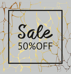 Gray marble texture with gold for sale decorative vector
