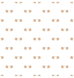 Hands stretch expander pattern cartoon style vector