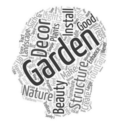 How to spice up your garden with decor text vector