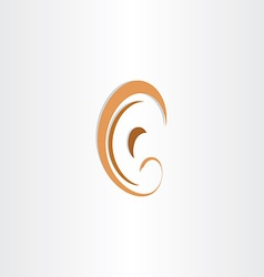 human ear abstract stylized symbol vector image