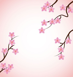 japan flowers vector image vector image