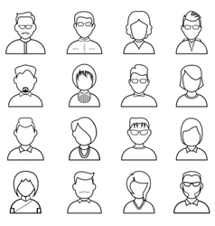 Line people icon vector