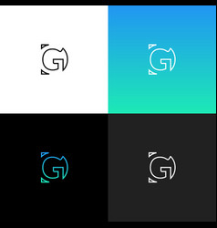 logo gd linear logo of the letter d and g vector image vector image