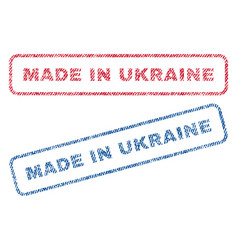 Made in ukraine textile stamps vector
