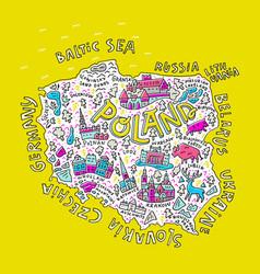 Map of poland vector