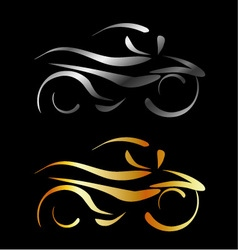 Motorbike with abstract lines vector image vector image