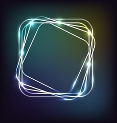 Neon background with rounded rectangle vector