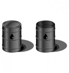 oil barrels vector image vector image