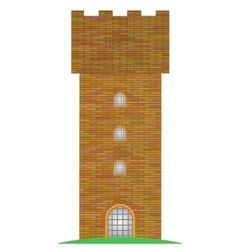 Old brick tower vector
