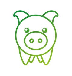 piggy bank saving money cash invest concept vector image