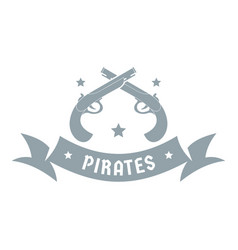 pirate gun logo simple gray style vector image