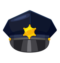 Police cap icon cartoon style vector