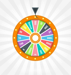 Poster with wheel of fortune vector