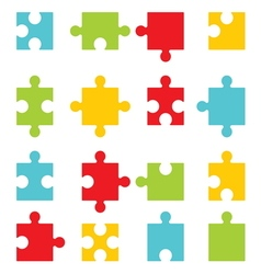 Puzzle set1 vector image