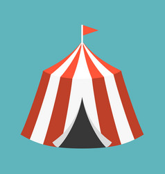 retro circus tent vector image vector image