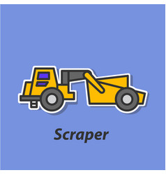 Scraper color flat icon vector