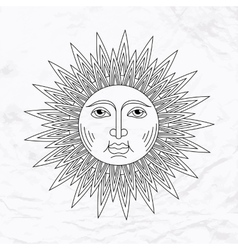 Sun tattoo vector