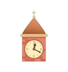 Vintage wooden clock icon cartoon style vector