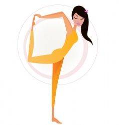 yoga orange vector image