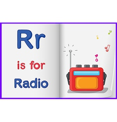 A picture of a radio in a book vector
