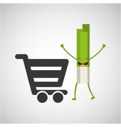 Concept market buy fresh celery vector