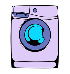 Washing machine icon cartoon vector