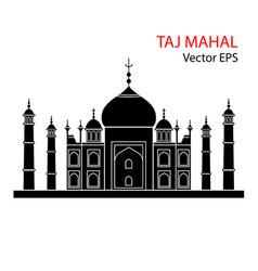 Taj mahal india flat vector