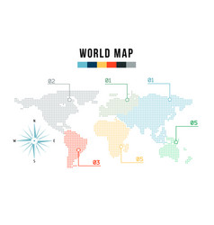 Modern world map for infographics in the style of vector