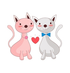 A pair of cats vector