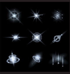 Set of light effects vector