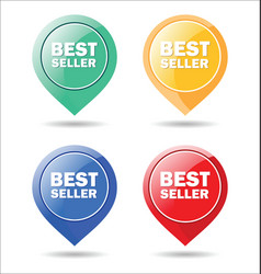 Stickers for best seller colorful moderm design vector