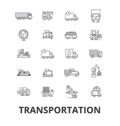 transportation truck logistic transport car vector image