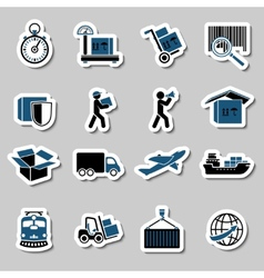 Transportation services stickers collection vector