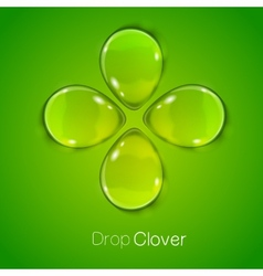 Four leaf lucky clover vector