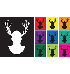 stag set vector image