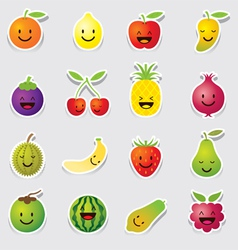 Mixed fruits character cartoon vector