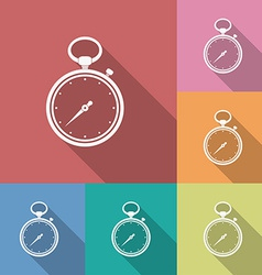 Icon of stopwatch flat style vector