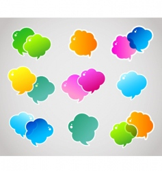 Speech bubble colorful vector