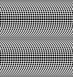 Abstract halftone black and white seamless pattern vector