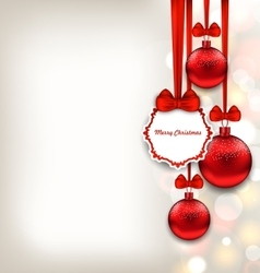 Xmas background with celebration card and glass vector