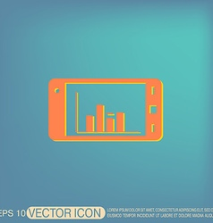 Smartphone with diagram vector