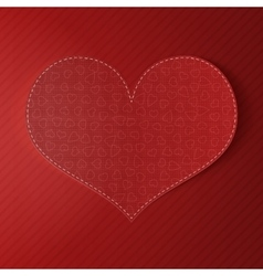Valentines day realistic big greeting red card vector