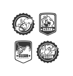 Clean it badges vector