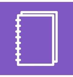 Spiral notebook vector
