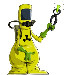 Radiation suit vector